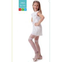 """Колготки нарядные белого цвета с эффектом высоких гольф """"GALLA"""""""