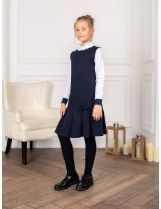 "Платье-сарафан темно-синего цвета силуэта ""А"""