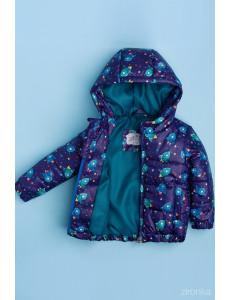 """Куртка демисезонная для мальчиков темно-фиолетового цвета """"космос"""""""