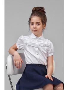 """Блузка белого цвета с коротким рукавом """"Марго"""""""